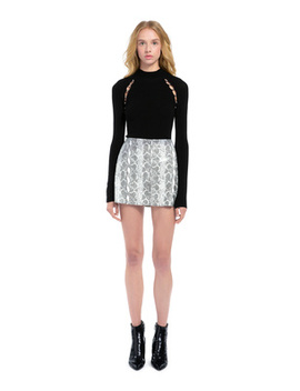 Elana Leather Mini Skirt by Alice And Olivia