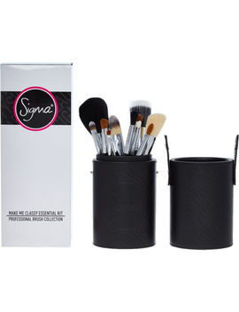 12 Black Essential Makeup Brush Set by Sigma