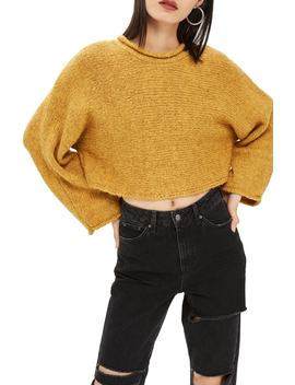 Punk Roll Neck Crop Sweater by Topshop
