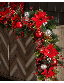 """Classic Christmas Prelit Garland, 72"""" by Neiman Marcus"""