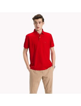 Pure Cotton Polo Shirt by Tommy Hilfiger
