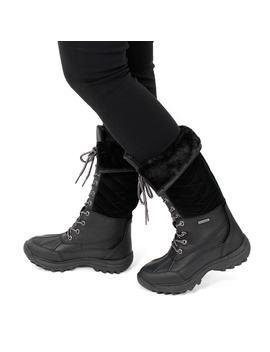 Women's Shakira Tall Blk Waterproof Winter Boots by Soft Moc