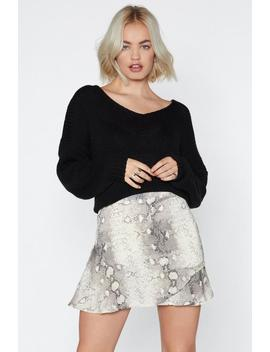 Snake Print Ruffle Wrap Skirt by Nasty Gal