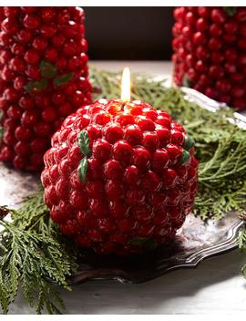 Red Berries Ball Candle by Neiman Marcus