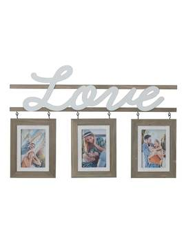 "Melannco ""Love"" 3 Opening 4"" X 6"" Collage Frame by Kohl's"