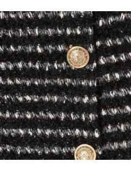 Metallic Striped Tweed Skirt by Balmain