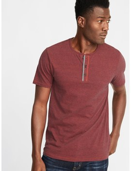 Soft Washed Crew Neck Henley For Men by Old Navy