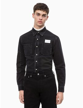 Logo Block Patched Utility Shirt by Calvin Klein
