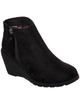 Bobs Tumble Weed Wedge Ankle Boot by Skechers