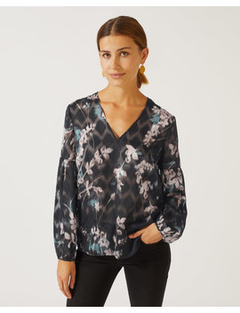 Winter Blossom Print Blouse by Jigsaw
