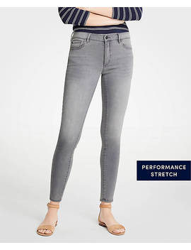 Petite Curvy Skinny Jeans In Mid Grey Wash by Ann Taylor