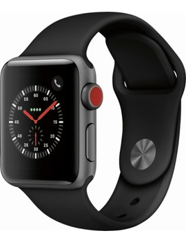 Apple Watch Series 3 (Gps + Cellular), 38mm Space Gray Aluminum Case With Black Sport Band   Space Gray Aluminum (At&T) by Apple