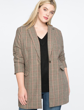 Long Plaid Jacket by Eloquii
