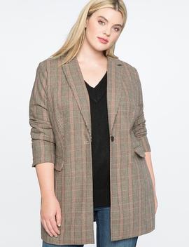 Long Plaid Jacket by Eloquii