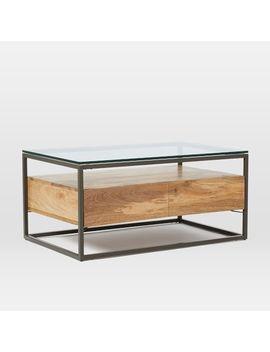 Box Frame Storage Coffee Table   Raw Mango / Antique Bronze by West Elm