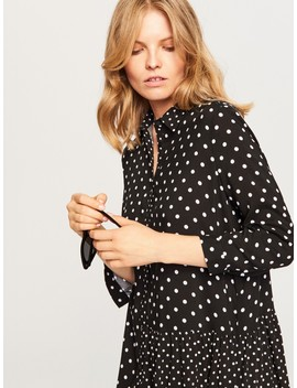 Shirt Dress In Polka Dot by Reserved