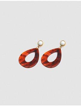 Tortoise Teardrop Earrings by Lizzie Fortunato