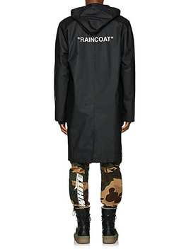 Coated Cotton Raincoat by Off White C/O Virgil Abloh