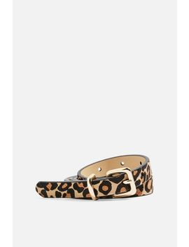 Leopard Print Skinny Belt by Topshop