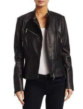 Leather Moto Jacket by Jonathan Simkhai