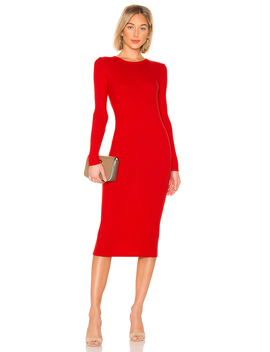 Rib Keyhole Midi Dress by Enza Costa