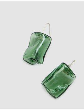Ice Cube Earrings In Green by Maryam Nassir Zadeh