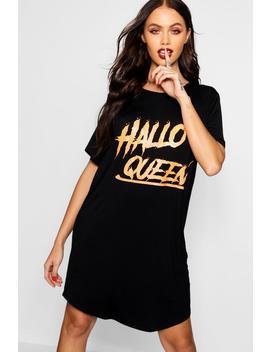 Halloween Hallo Queen Tee by Boohoo