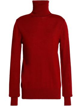Cutout Merino Wool Turtleneck Sweater by Chalayan