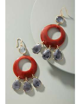 Resin Circular Drop Earrings by Anthropologie
