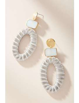 Roisin Velvet Drop Earrings by Anthropologie