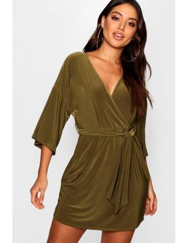 Batwing Draped Skater Dress by Boohoo
