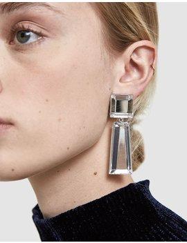 Beam Geometric Earrings In Clear by Rachel Comey