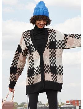 Checker Knit Cardigan by Twik