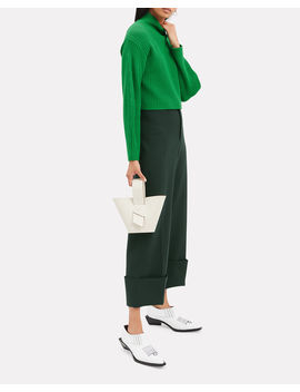 Structured Green Ribbed Pullover by Tibi