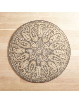 Mersey Ivory 3' Round Wool Rug by Pier1 Imports