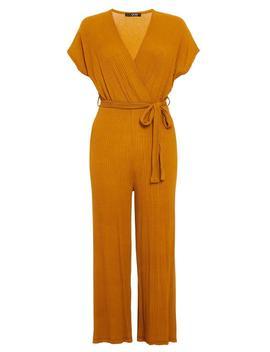 *Quiz Mustard Tie Culottes Jumpsuit by Dorothy Perkins