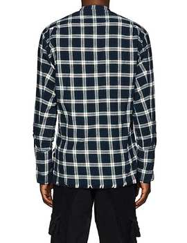 Plaid Cotton Flannel Studio Shirt by Greg Lauren
