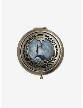 The Nightmare Before Christmas 25th Anniversary Jack And Sally Die Cut Mirror Compact by Hot Topic