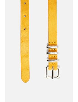 Leather Skinny Belt by Topshop
