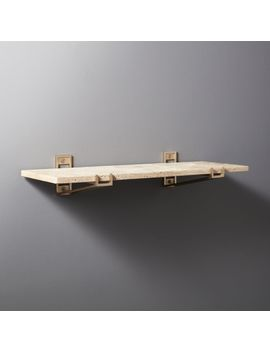 Travertine Stone Shelf by Crate&Barrel