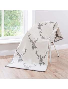 Thermosoft Natural Stag 150cm X 200cm Blanket by Dunelm