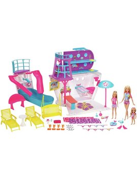 Barbie Cruise Ship Playset With 3 Dolls And 28 Accessories by Argos