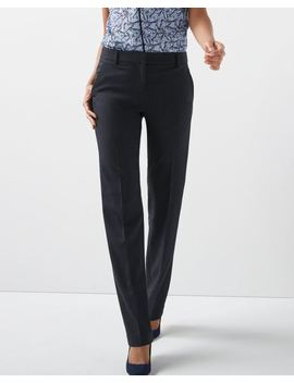 Stretch Two Tone Navy Signature Fit Straight Leg Pant by Rw & Co