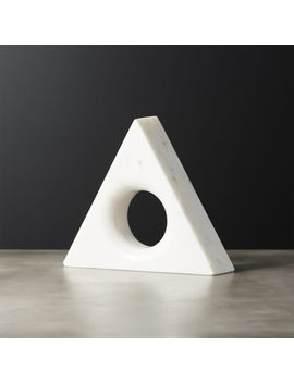 Trifecta Marble Triangle by Crate&Barrel