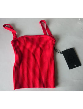 Unif   Cameron Top Crop Tank   Red   Size S   New With Tags   Rrp $49   Sold Out by Ebay Seller
