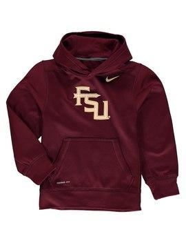 Florida State Seminoles Nike Youth Logo Ko Pullover Performance Hoodie   Garnet by Fanatics