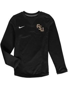Florida State Seminoles Nike Youth Modern Crew Neck Sweatshirt   Black by Fanatics
