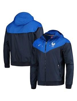 France National Team Nike Windbreaker Color Block Full Zip Jacket – Navy by Fanatics