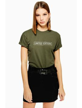 **'limited Edition' Slogan T Shirt By Love by Topshop