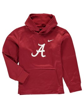 Alabama Crimson Tide Nike Youth Logo Ko Pullover Performance Hoodie   Crimson by Fanatics